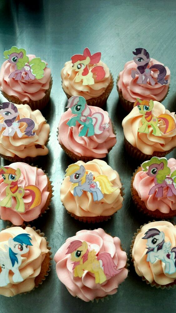 Edible Cake Images Gosford : 12 My Little Pony Edible wafer/rice paper cake/cupcake ...