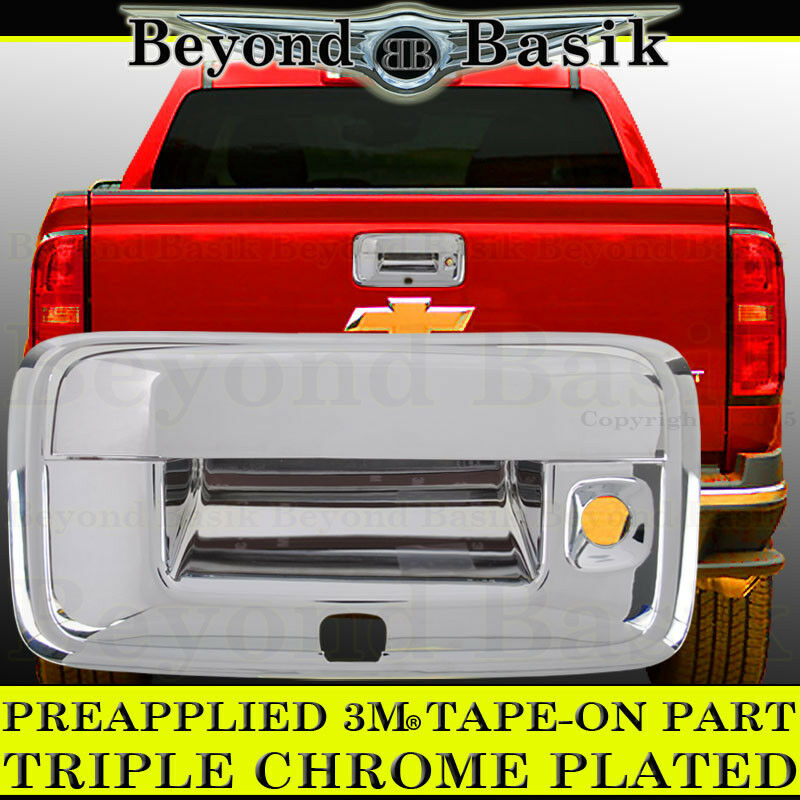 2017 Chevrolet Tahoe Camshaft: 2014-2017 CHEVY COLORADO Chrome Tailgate Handle Cover Rear