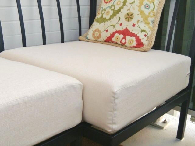 22 beige outdoor chair seat cushion cover water fade resistant new ebay. Black Bedroom Furniture Sets. Home Design Ideas