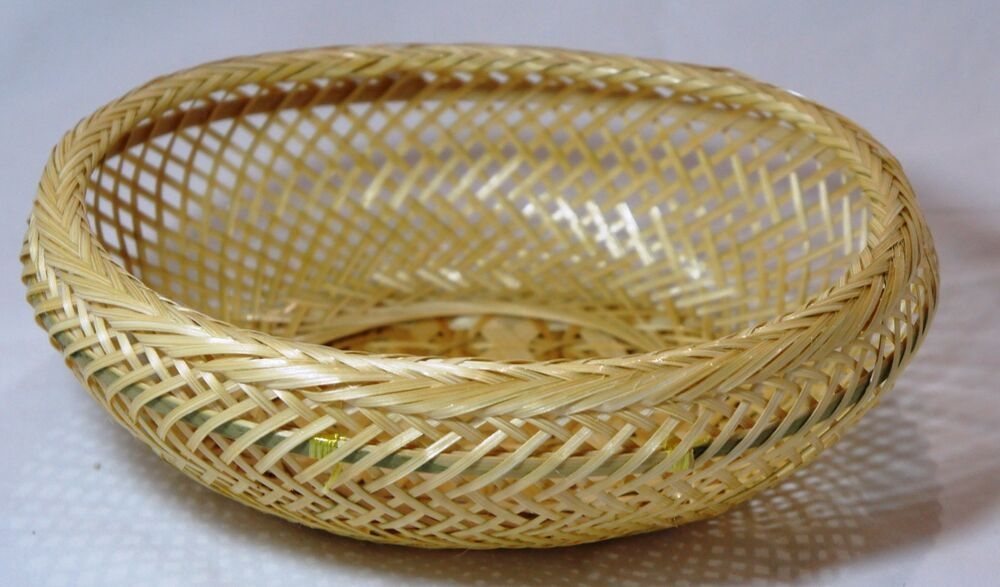 Handmade Basket Gifts : Oval natural baskets bamboo woven mini basket handmade