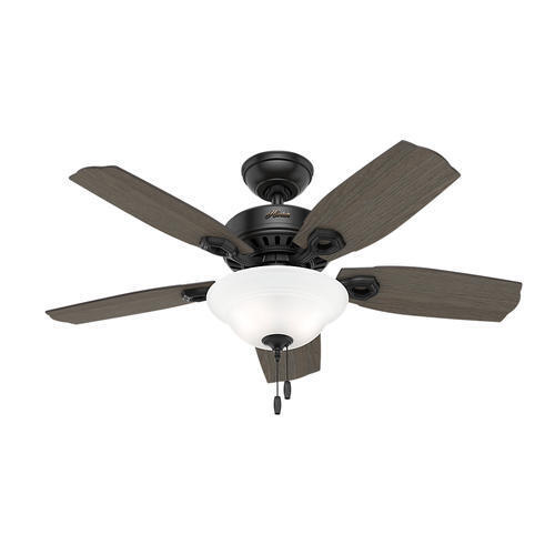 "44 White Downrod Close Mount Indoor Outdoor Tropical: 44"" Matte Black 2 LED Indoor Ceiling Fan With Light Kit"