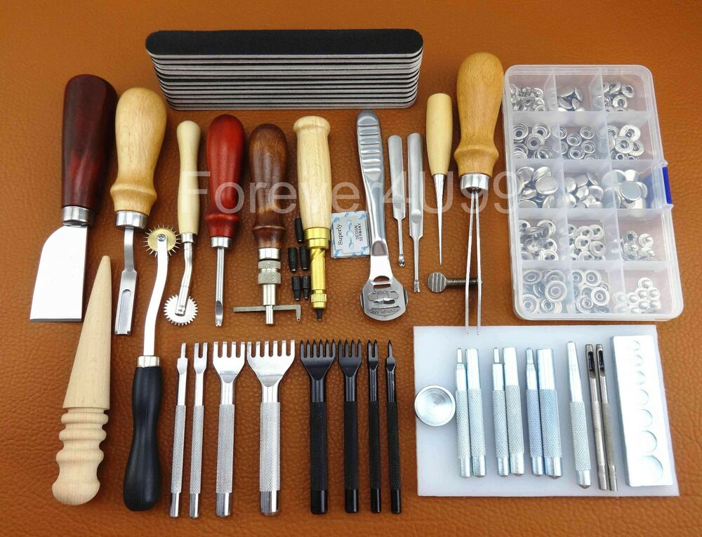 Leather craft tool kit leathercraft hand sewing tool set for Leather craft kits for sale