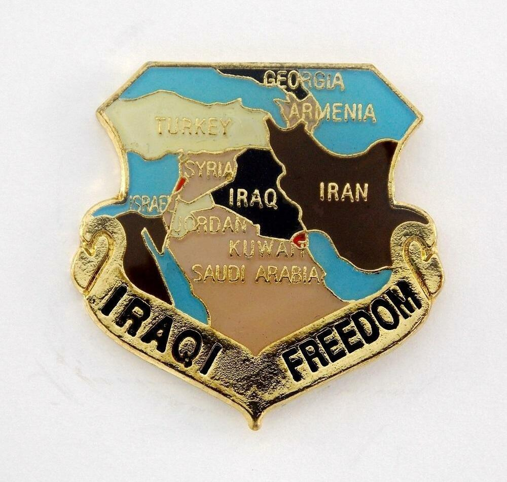 Wholesale Hat Pins: Wholesale Lot Of 12 Iraqi Freedom Lapel Hat Pin Military