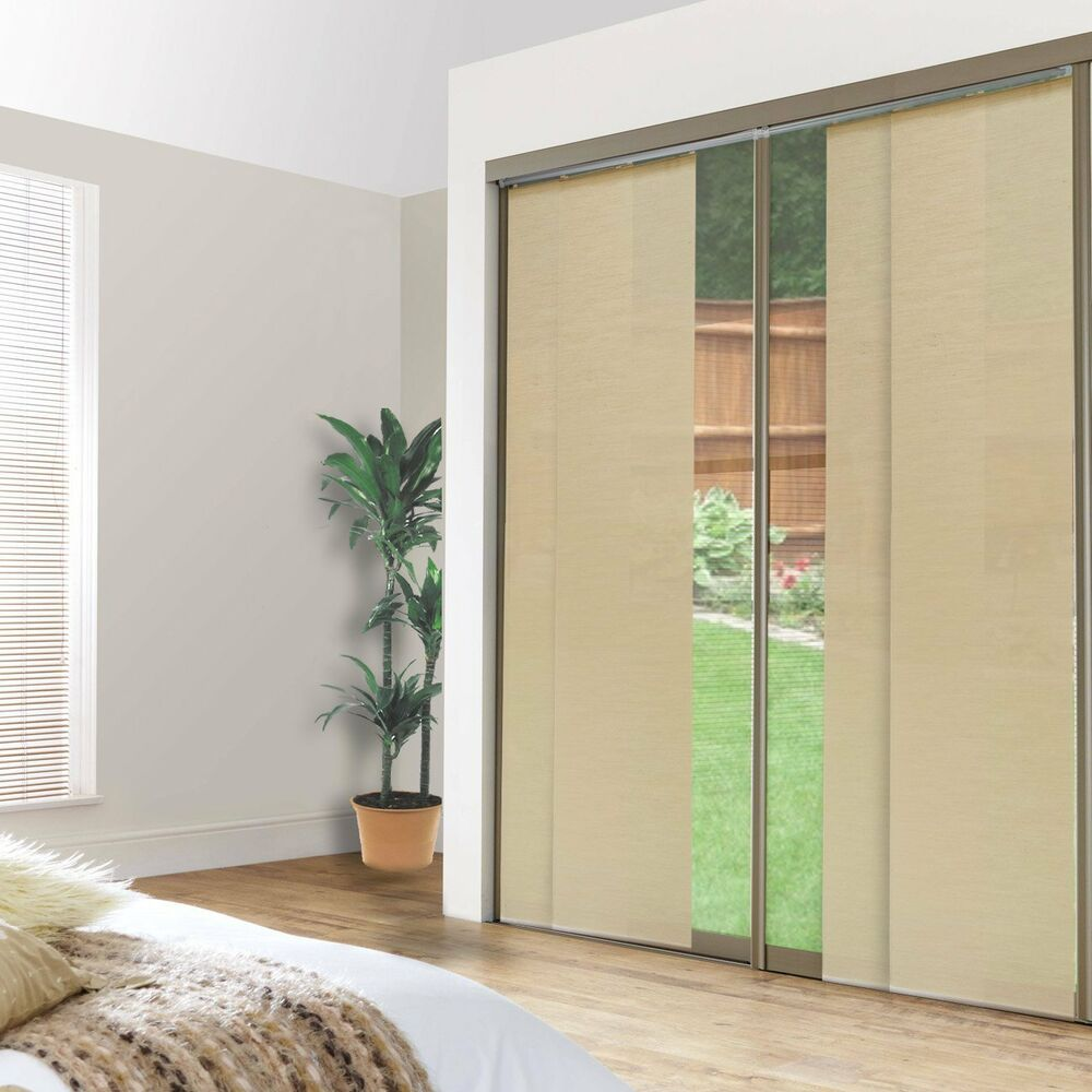 Sliding panel screen cordless shade patio french balcony for Large sliding glass patio doors