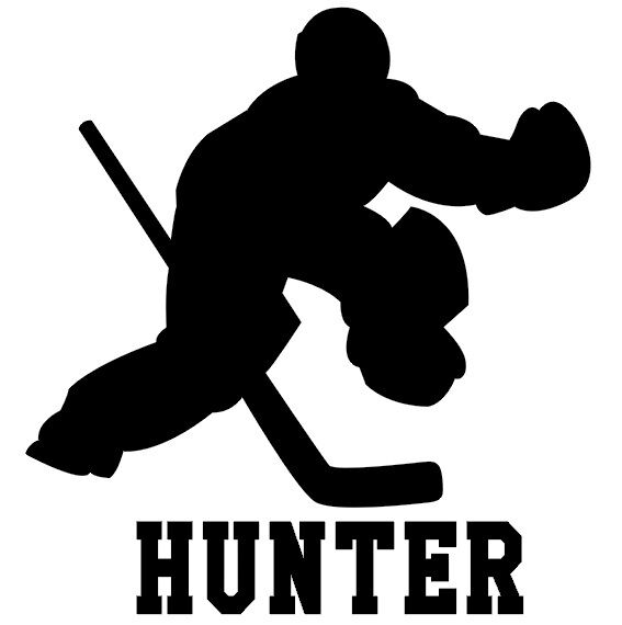 HOCKEY GOALIE wall decal stickers personalized BOYS AND ...