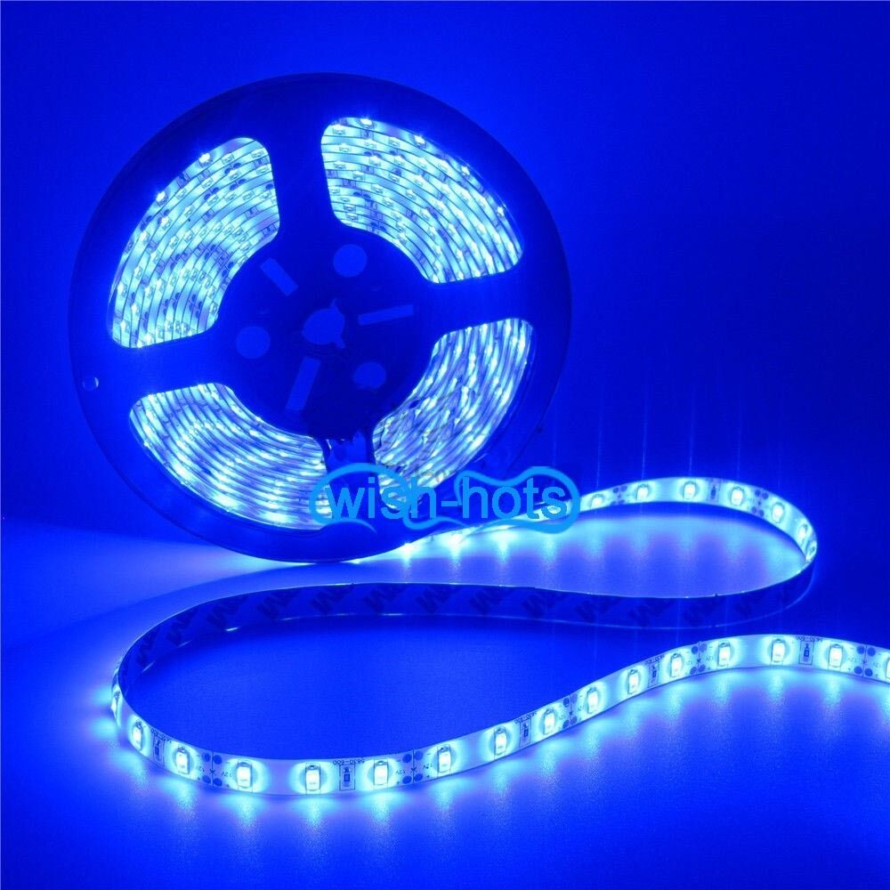 16 ft 5m blue boat accent light waterproof led lighting strip 300 5050 smd leds ebay. Black Bedroom Furniture Sets. Home Design Ideas