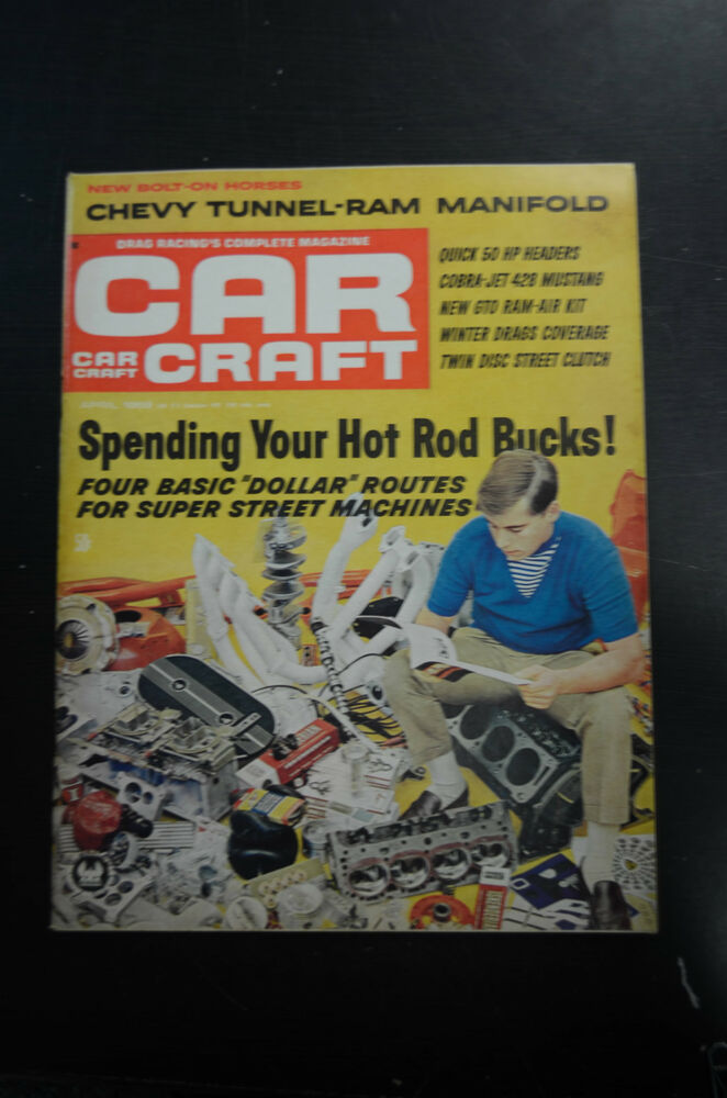 1968 car craft april back issue magazine ebay