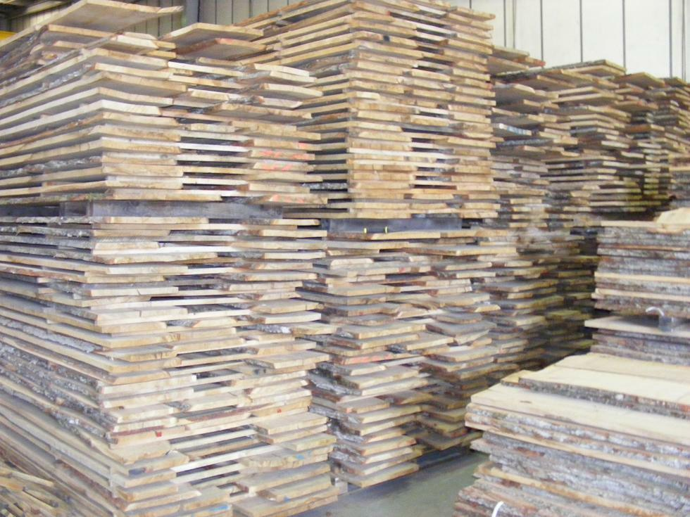 Rough Sawn Edge ~ Waney edge oak boards kiln dried rough sawn planks mm