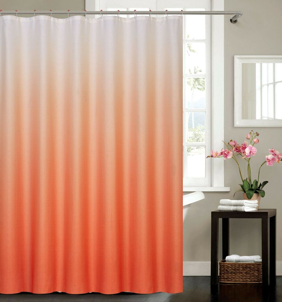 waffle fabric weave shower curtain with 12 matching metal