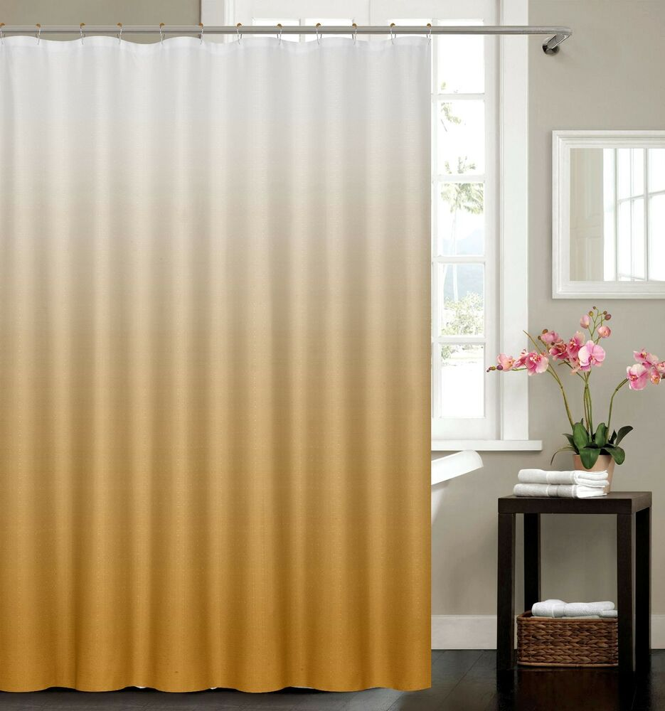 Waffle Fabric Weave Shower Curtain With 12 Matching Metal Roller ...