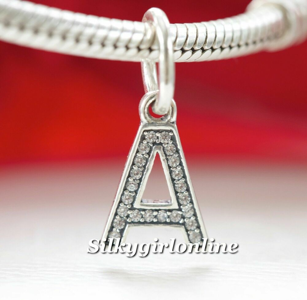Authentic Pandora Sterling Silver Letter A Initial Dangle