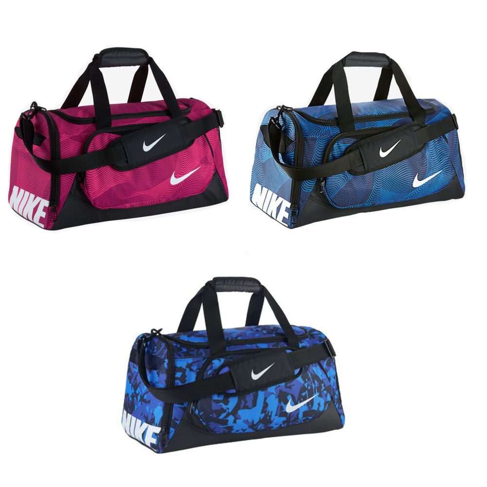 Details about Nike Mens Womens Unisex Small Duffel Holdall Sports Workout  Gym Bag Black Pink 3fe28491ba299