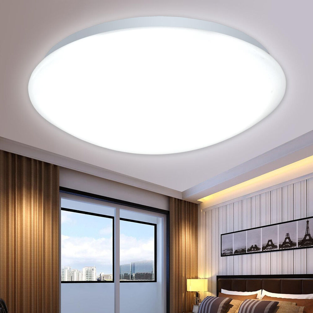 New led flush mounted ceiling light fixtures living for Flush mount bedroom lighting