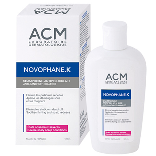 acm novophane k dandruff shampoo anti dandruff itching scalp redness 125 ml ebay. Black Bedroom Furniture Sets. Home Design Ideas