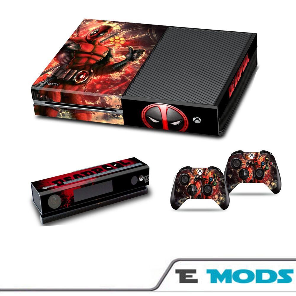 Deadpool Marvels Xbox One Console Skin Sticker Kinect + 2 ...Xbox One Skins