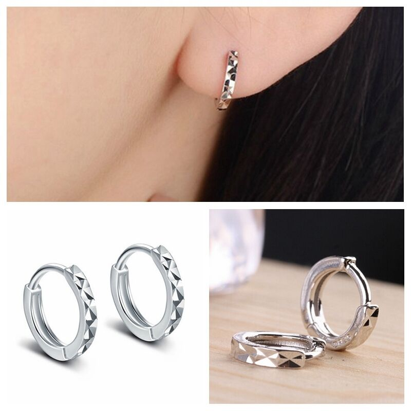 Awesome  Womens Jewelry 925 Sterling Silver Round Hoop Dangle Earrings Studs