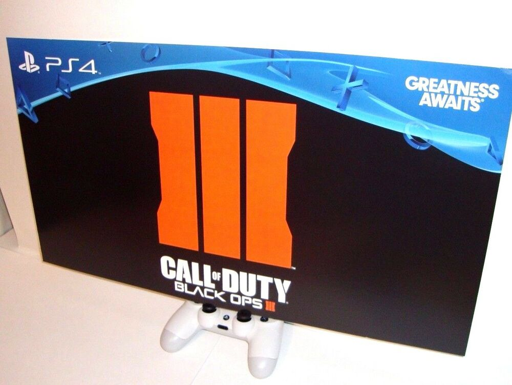 rare call of duty black ops iii 3 collectors promo poster display ps4 xbox one ebay. Black Bedroom Furniture Sets. Home Design Ideas