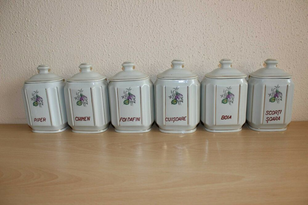 vintage kitchen storage jars vintage pottery kitchen storage canister jars set floral 6833