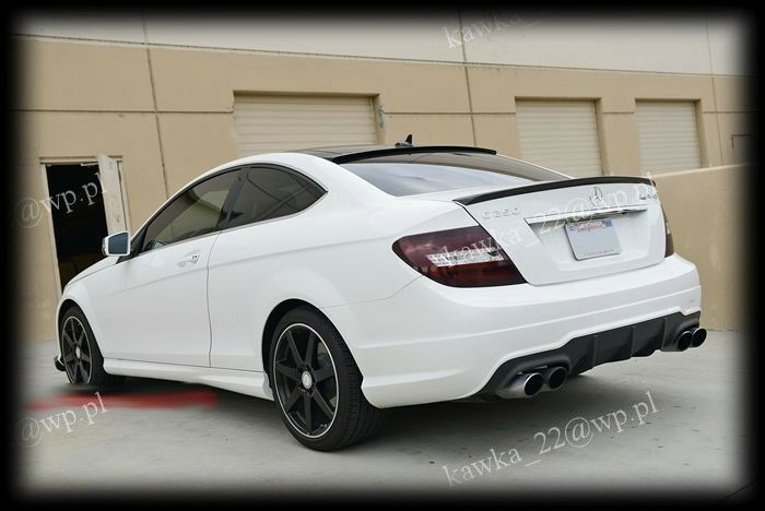 mercedes c class w204 coupe amg look rear boot lip spoiler. Black Bedroom Furniture Sets. Home Design Ideas