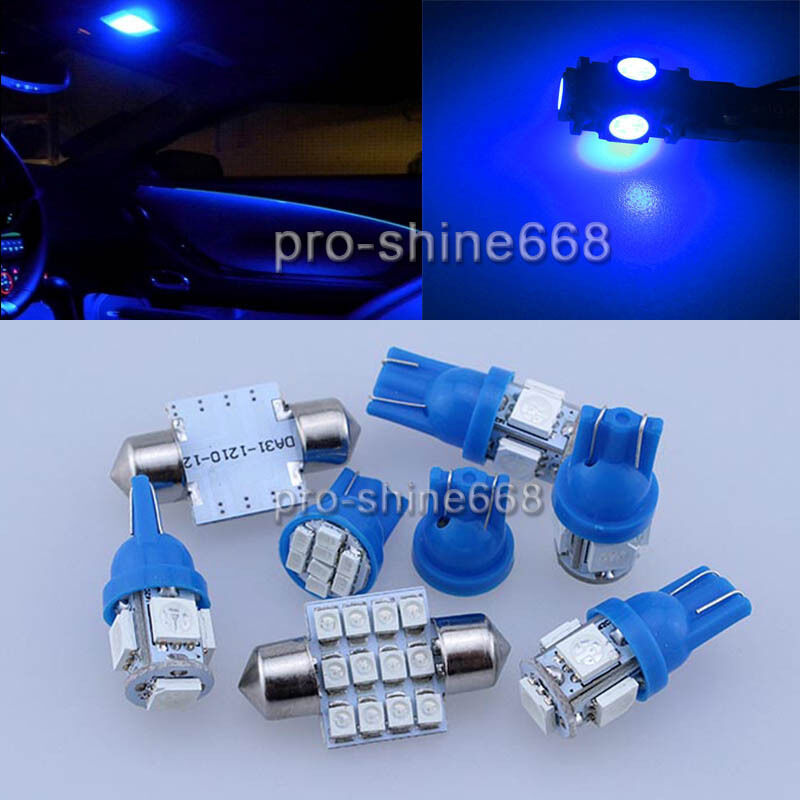 Interior car led light smd package roof bulbs kit blue fit volvo xc 90 ebay for Led car interior lights ebay