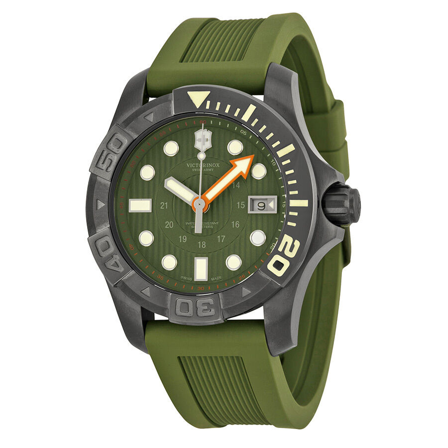 mens divemaster army black watches dive swiss next master watch rubber