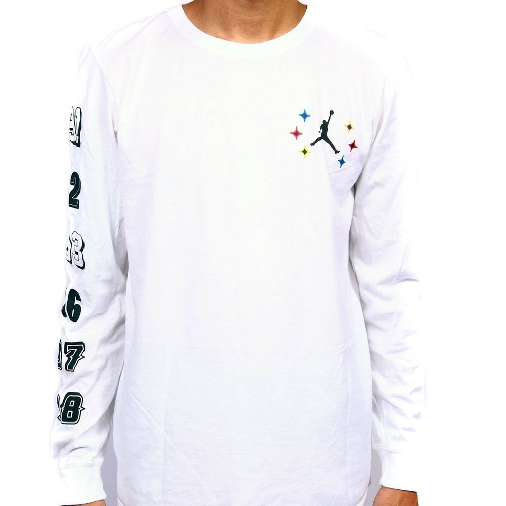 Nike air jordan championship mens white long sleeve t Mens long sleeve white t shirt