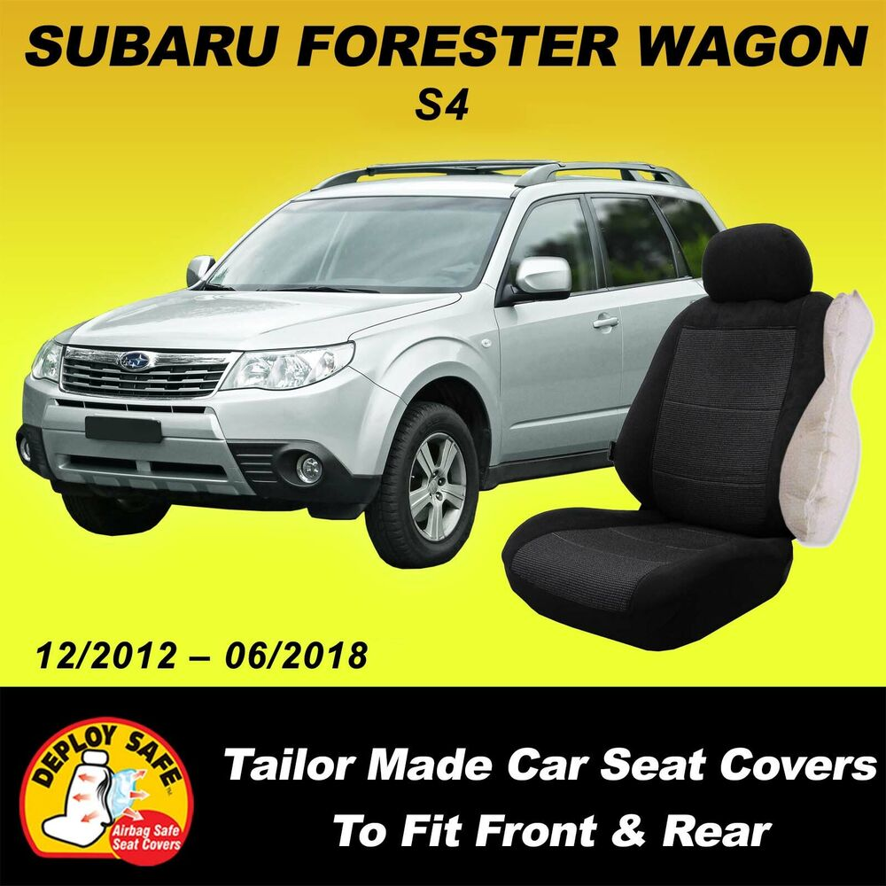 car seat covers for subaru forester front rear 01 2013 current airbag safe ebay. Black Bedroom Furniture Sets. Home Design Ideas