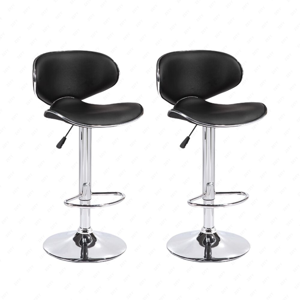 bar stools leather hydraulic swivel dining chair black ebay