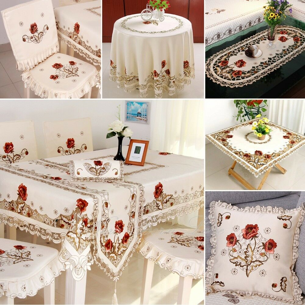 yazi Embroidered Tablecloth Cover Doily Pillowcase Table  : s l1000 from www.ebay.com.au size 1000 x 1000 jpeg 209kB