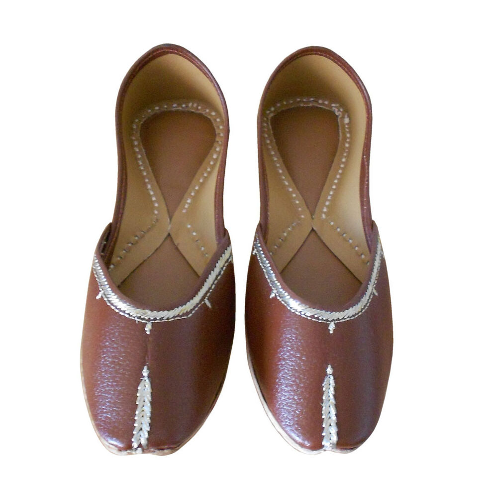 Perfect US 69 INDIAN WOMEN SHOES JOOTI LEATHER FLIPFLOPS TRADITIONAL