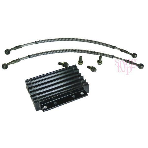cnc motorcycle oil cooler kit radiator cooling atv dirt bike 50 125 138cc black