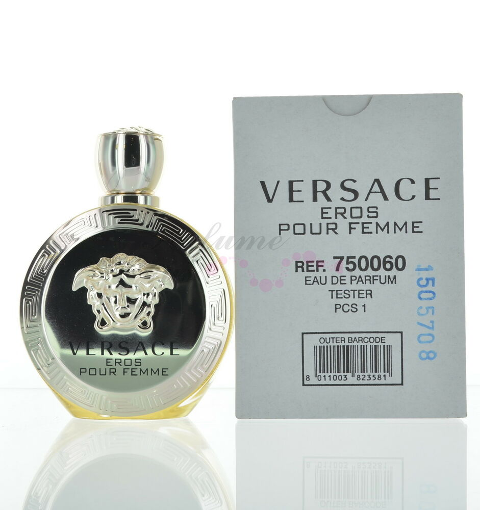 versace eros pour femme for women eau de parfum tester with cap ebay. Black Bedroom Furniture Sets. Home Design Ideas