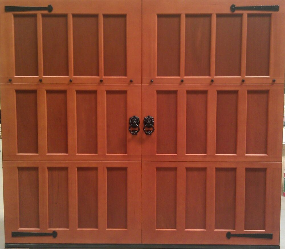 8x7 Wood Overhead Carriage House Garage Door Ebay
