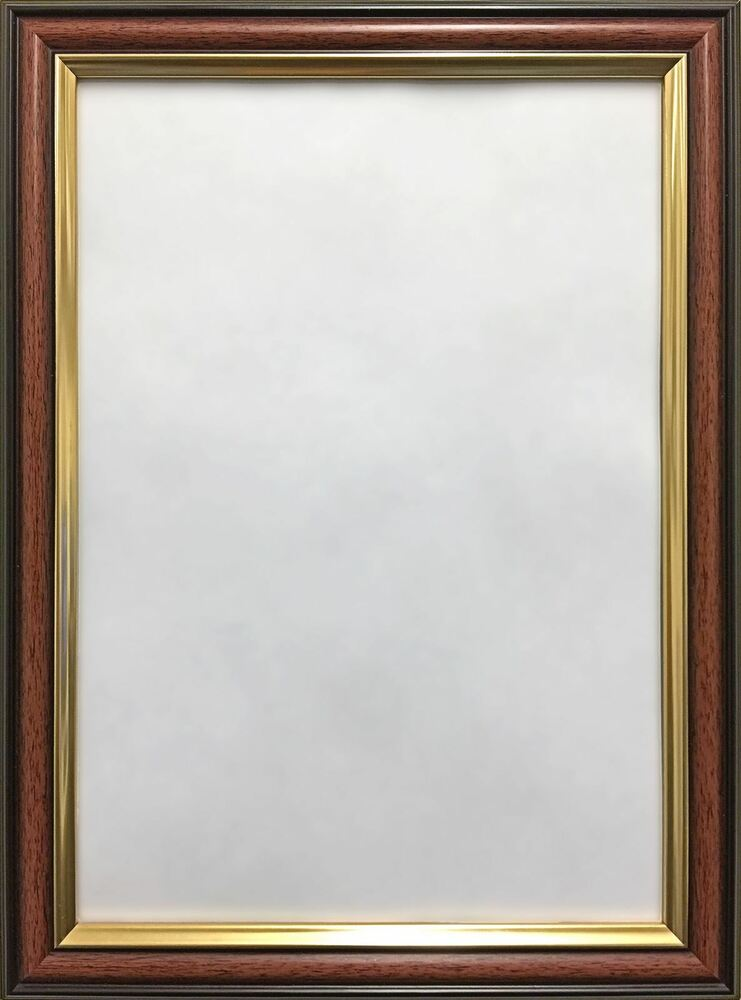 Mahogany Photo Picture Frame Walnut Wood Effect Gold