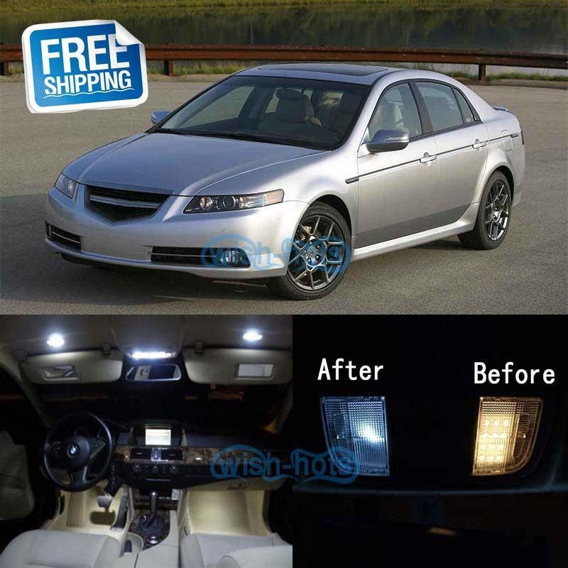 White LED Lights Interior Package Kit For 2004-2008 Acura