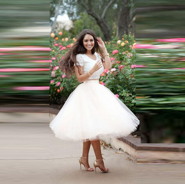 Fashion women multi layers white puffy princess tulle for How to ship a wedding dress usps