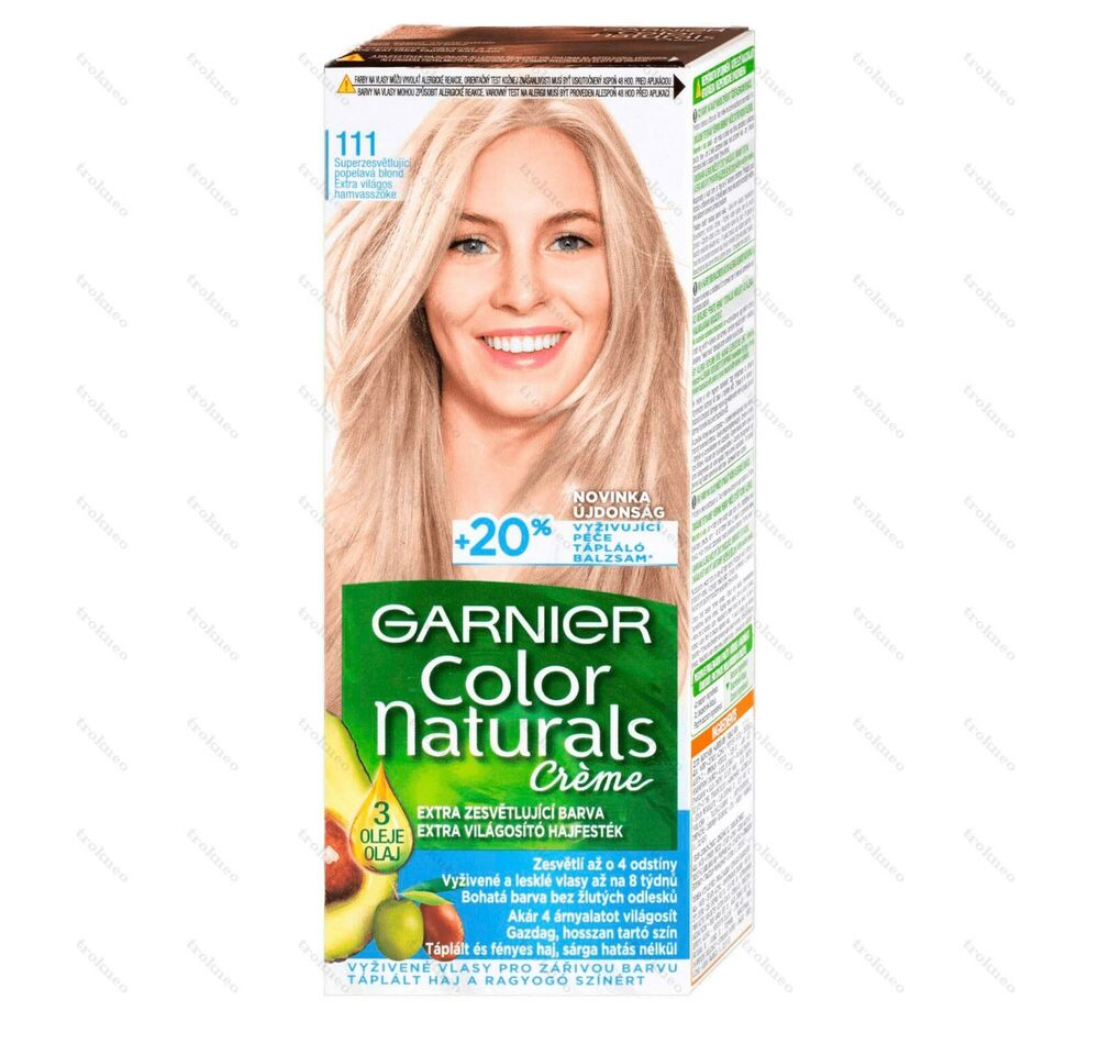 Garnier Color Naturals 111 Extra Light Ash Blonde Color Hair  EBay
