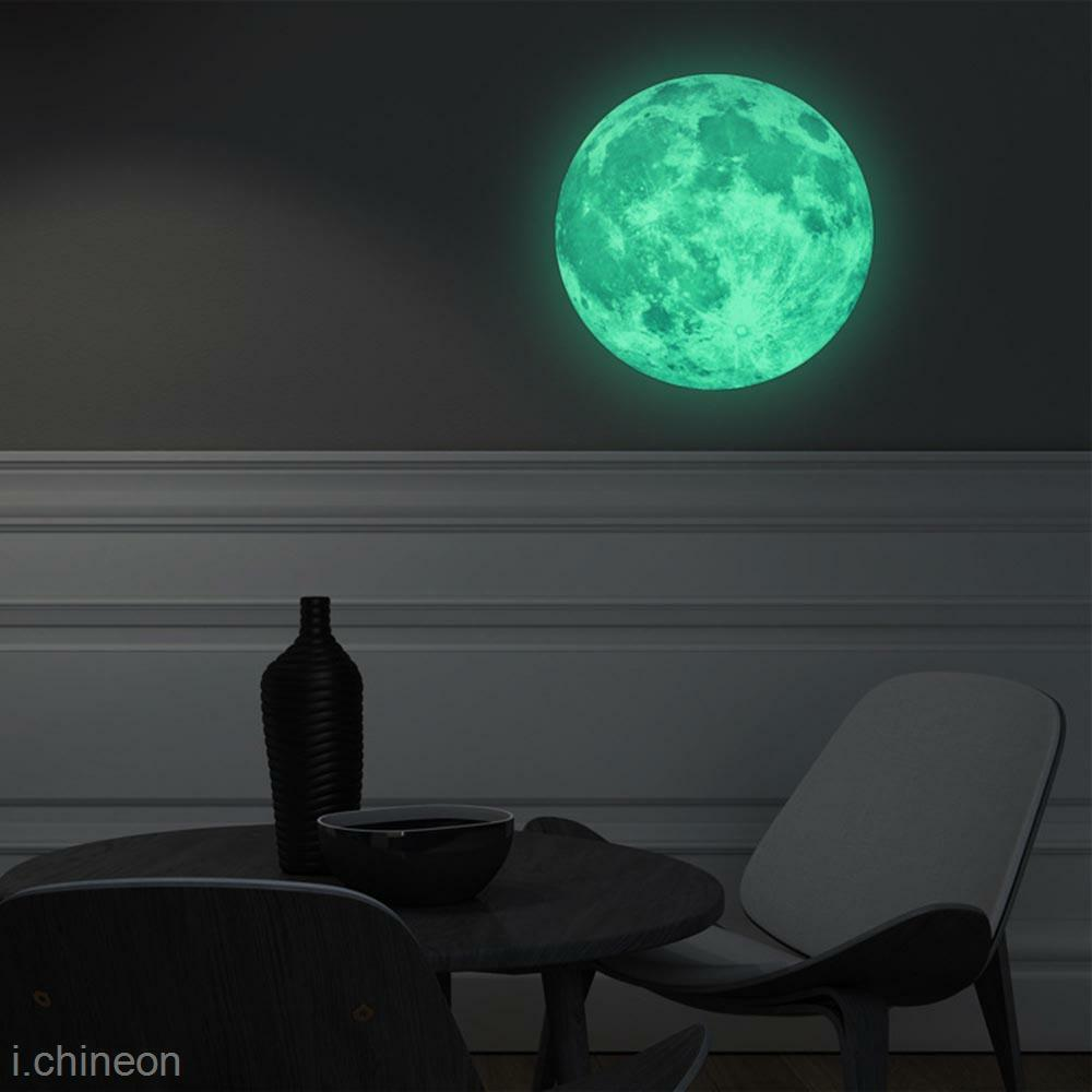 moonlight glow in the dark moon wall decal sticker ceiling massive glow in the dark full moon wall sticker the