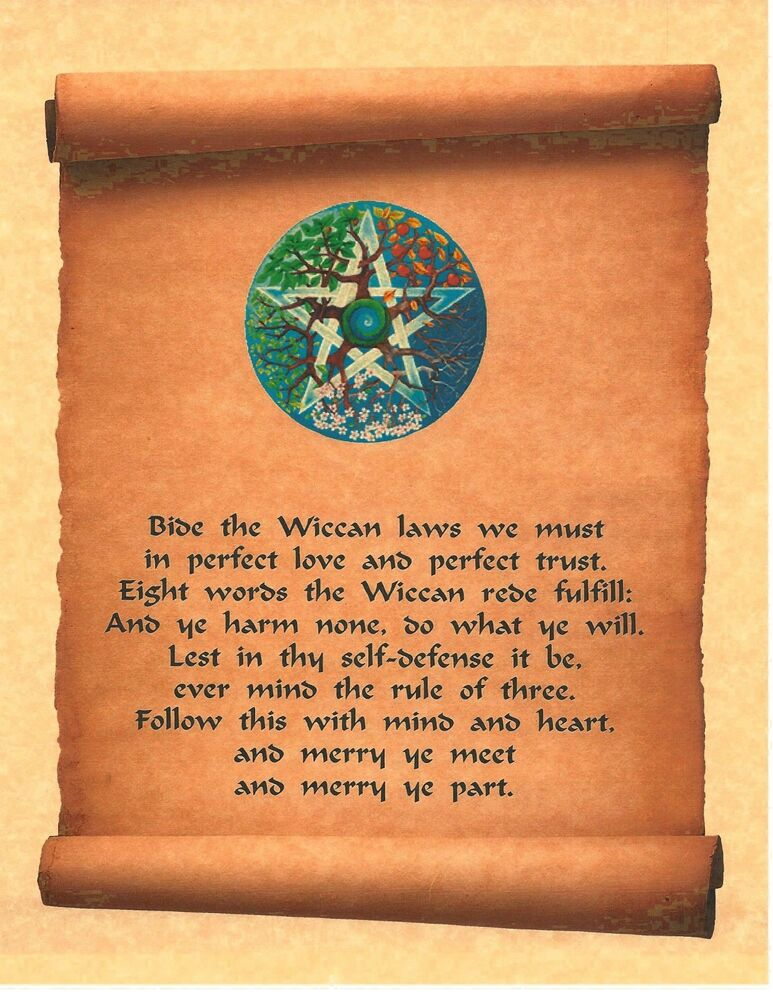 Book of Shadows Spell Pages ** Front Page Wiccan Rede Pentagram ...