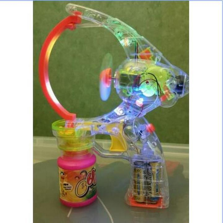 GIANT BUBBLES BUBBLE GUN WITH LED FLASHING LIGHTS 2 X ...