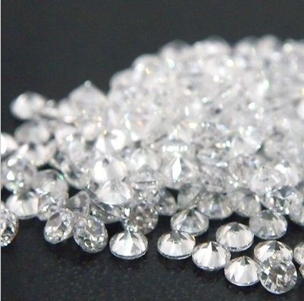 Cubic Zirconia Round Crystal Clear White Aa Cz Loose