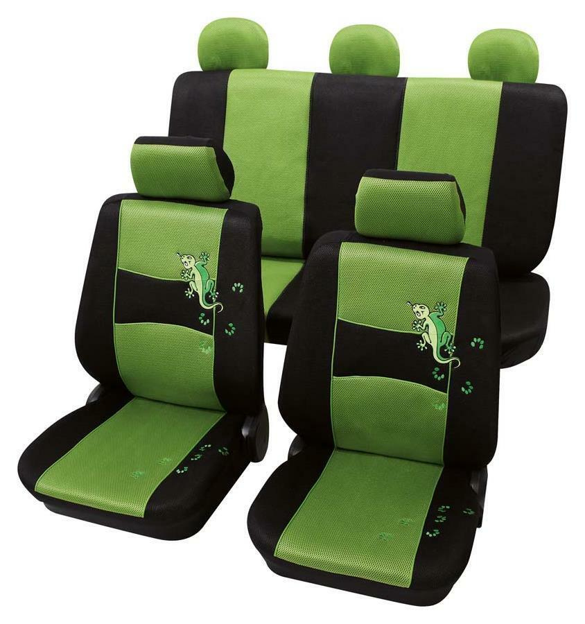 stylish green black design seat covers vw beetle convertible 2002 2010 ebay. Black Bedroom Furniture Sets. Home Design Ideas
