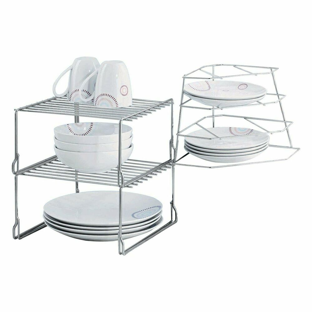kitchen plate organizer corner plate rack stacker for cupboard storage plate rack 2444