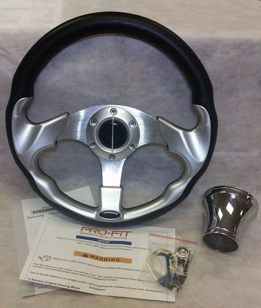 Club Car Ds Steering Wheel For Silver 13 Quot Includes Hub
