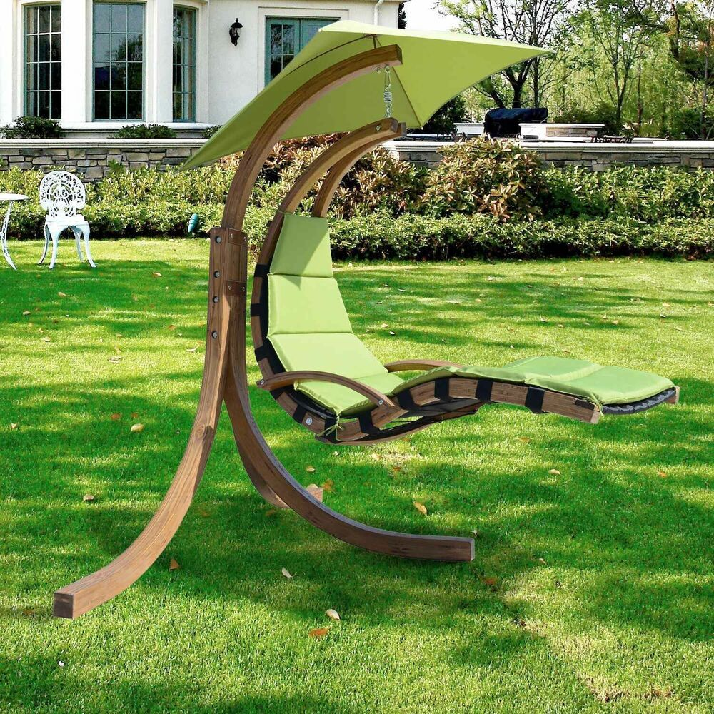 outsunny wood wooden garden swing chair seat seater