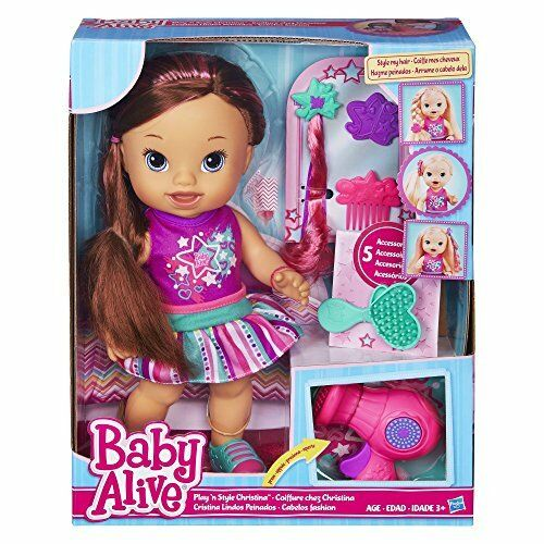 baby alive play n style christina doll brunette