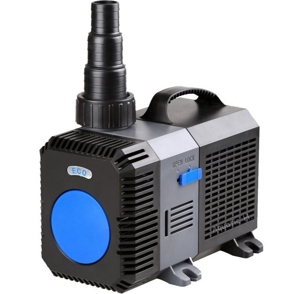 3200 gph submersible inline pond pump fountain waterfall for Submersible pond pump with filter
