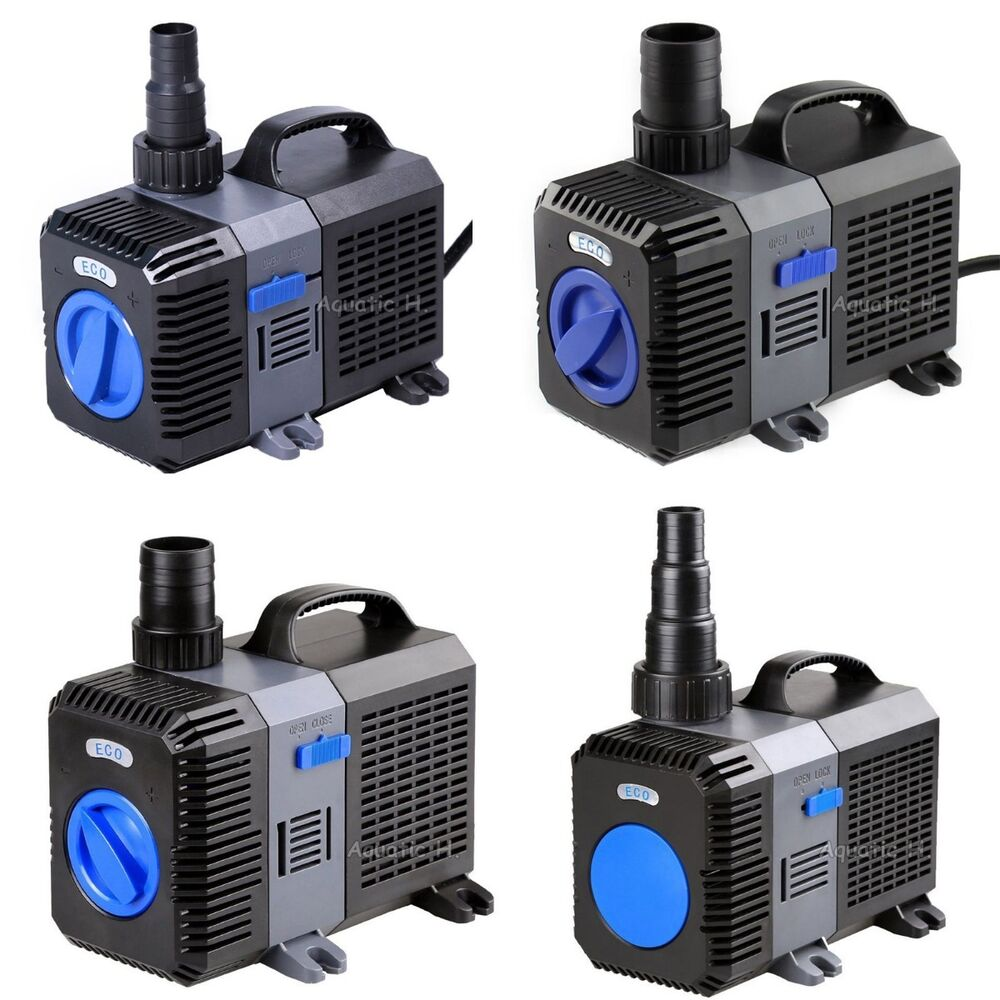 1200 4200gph submersible inline pond pump aquarium for Submersible pond pump and filter