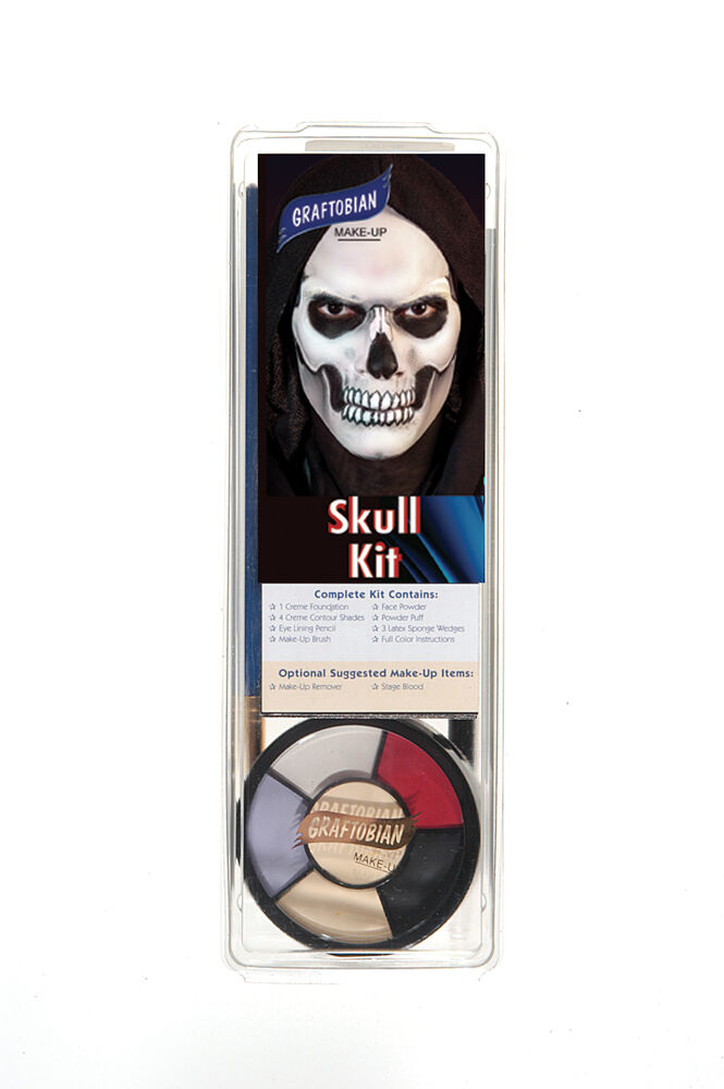 Professional Halloween Makeup Dallas: Graftobian Professional Skull Makeup Kit, Halloween