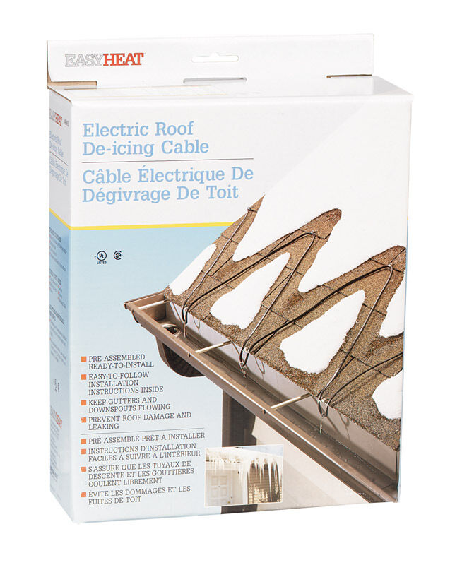 Gutter Heaters De Icing Cables : Easy heat electric roof gutter de icing cable adks
